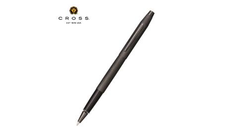 Cross經典世紀系列 啞黑蝕刻鑽石圖騰鋼珠筆 AT0085-122