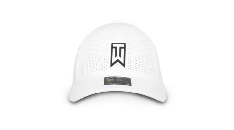 NIKE GOLF 運動帽-高爾夫球 TIGER WOODS 帽子 防曬 遮陽 鴨舌帽 白黑@BV1072-100@