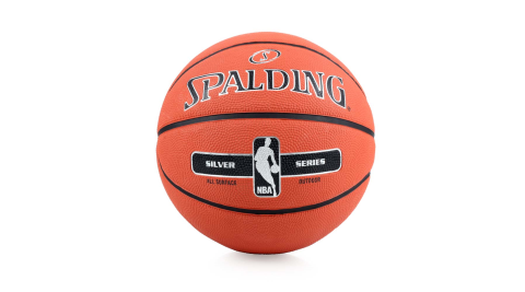 SPALDING 17 銀色NBA籃球-7號球 附球針 斯伯丁 橘黑@SPA83494@