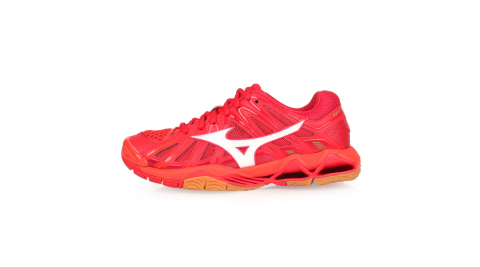 MIZUNO WAVE TORNADO X2 男女排球鞋-美津濃 橘紅白@V1GA181251@