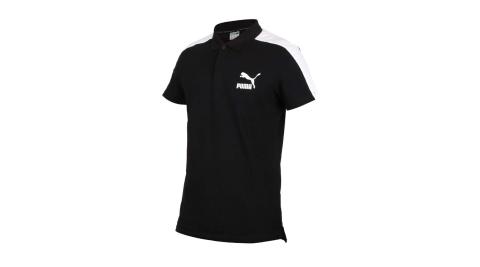 PUMA 男短袖POLO衫-短袖上衣 慢跑 高爾夫 網球 羽球 休閒 歐規 黑白@59644901@