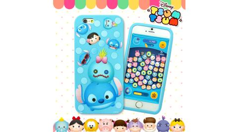 TSUM TSUM迪士尼正版授權 iPhone 6s / 6 4.7吋2D立體浮雕手機軟膠套(史迪奇)