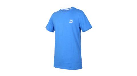 PUMA 男流行系列短袖T恤-純棉 歐規 休閒 上衣 慢跑 寶藍白紅@59862741@