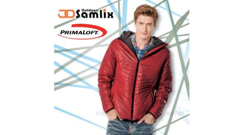 【山力士 SAMLIX】男Primaloft 輕量保暖外套.休閒外套.防風.防潑水(非羽絨外套)100%聚酯纖維/紅 66813