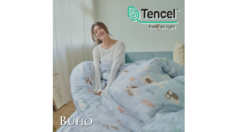 《BUHO》舒涼TENCEL天絲雙人加大四件式兩用被床包組(多款任選)