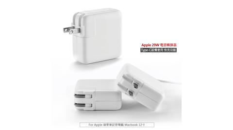 Apple適用旅充頭 29W USB-C Type-C快充頭 電源轉換器 充電器 旅充頭