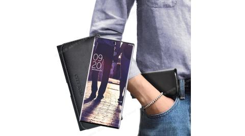 City for 三星 Samsung Galaxy Note10 簡約橫式腰掛皮套