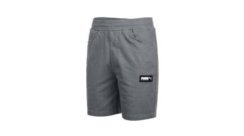 PUMA 男基本系列8吋短褲-休閒 慢跑 亞規 鐵灰黑白@58268144@