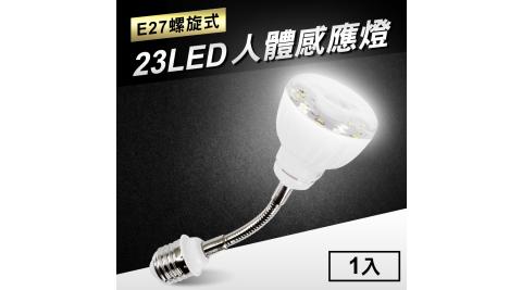 23LED感應燈人體感應燈(E27彎管螺旋式)