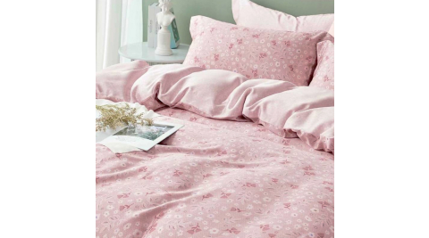 LAMINA 若柔(粉) 100%天絲枕套床包組 單人