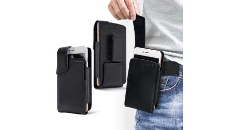 Achamber for iPhone 8+ / 7+ / 6+ 紳士真皮直立可旋轉插卡皮套