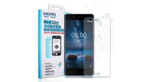 MONIA Nokia 8 日本頂級疏水疏油9H鋼化玻璃膜 (非滿版)