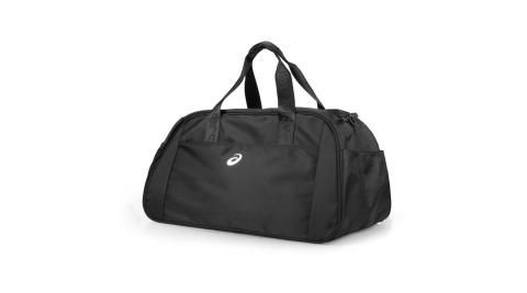 ASICS 大型旅行袋-亞瑟士 行李袋 手提包 裝備袋 側背包 黑銀@3033A548-001@