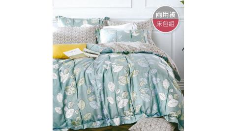 R.Q.POLO 純棉系列-夏沐煙雨 (床包兩用被四件組-雙人標準5尺)