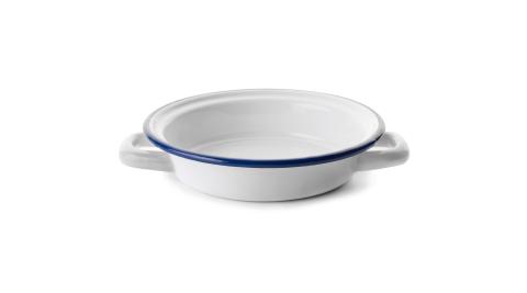 《IBILI》琺瑯雙耳深餐盤(藍18cm)