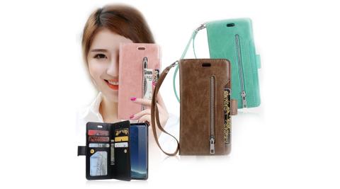 VXTRA 法式香榭 三星Samsung Galaxy S9 多層次皮夾 錢包手機皮套