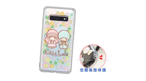 三麗鷗授權 KiKiLaLa雙子星 三星 Samsung Galaxy S10 愛心空壓手機殼(鄉村) 有吊飾孔