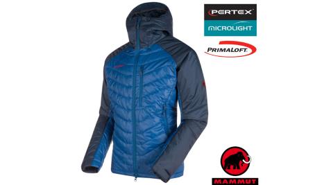 【瑞士 MAMMUT 長毛象】男 Rime Pro IN Hooded 連帽防風保暖外套.夾克大衣.保暖/21880-5971 群青藍