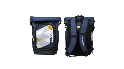 VICTOR 2020奧運系列後背包-LTD 限定 上卷式 訓練 雙肩包 旅行包 丈青黑灰金@BR3021LTDAB@