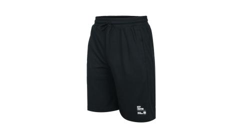 FIRESTAR 男吸濕排汗訓練籃球短褲-寬版 運動 慢跑 路跑 五分褲 黑@B0502-10@