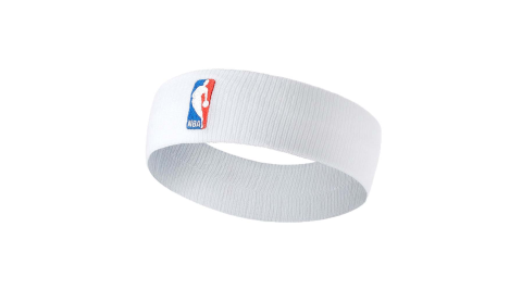 NIKE NBA DRI-FIT 單色頭帶-客場-髮帶 慢跑 一只入 籃球 飛人喬丹 白紅藍@NKN02100OS@