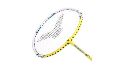 VICTOR兒童短桿極速穿線拍羽毛球拍羽球勝利黃白藍JS7JR