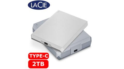 LaCie Mobile Drive 2TB USB-C USB 3.0 可攜式硬碟 太空灰