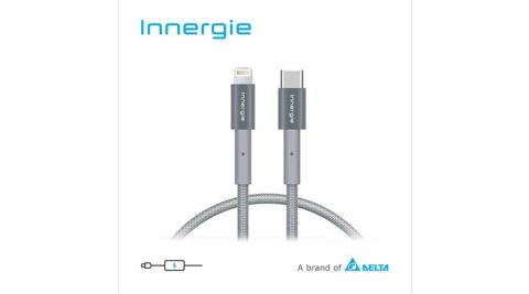 Innergie 台達電 Lightning 對 USB-C 充電線 灰 2M