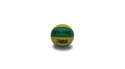 SPALDING NBA 一號籃球 迷你小球-斯伯丁 NBA 戶外 黃綠@SPA66994@