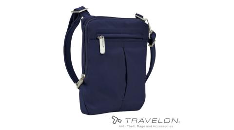 【TRAVELON】TL-43119 防盜經典小斜背包-鈷藍 斜背包 手提包 防盜包 安全 出國旅遊