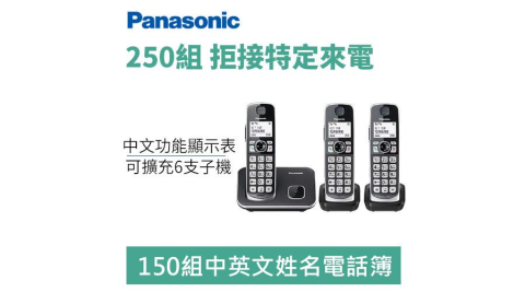 Panasonic 國際牌 KX-TGE613TW DECT 數位無線電話