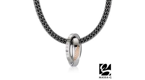 MASSA-G【玫瑰率性】搭配X1 4mm合金鍺鈦項鍊