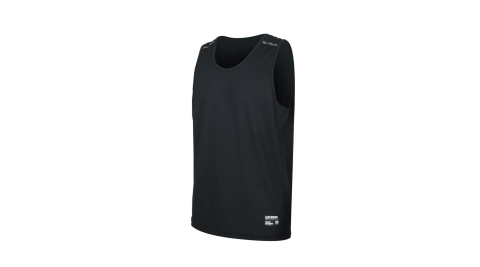 FIRESTAR 男彈性訓練籃球背心-反光 無袖 吸濕排汗 運動上衣 黑@B0508-10@