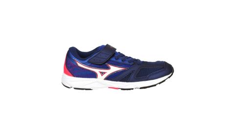 MIZUNO SPEED STUDS BELT 男女童運動鞋-慢跑 路跑 美津濃 深藍白粉@K1GC194014@