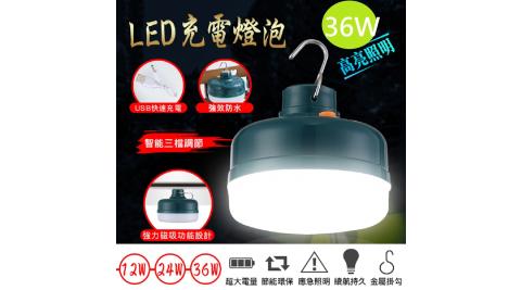 在地人USB三檔可調LED充電燈泡應急照明燈泡36w
