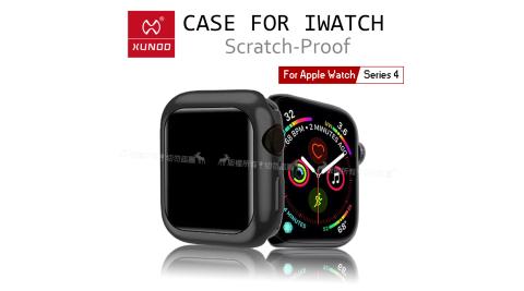 XUNDD 訊迪 Apple Watch Series 4 (40mm) 全包金屬色防摔軟殼 保護邊框(宇宙黑)