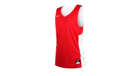 NIKE 男雙面籃球針織背心-無袖背心 慢跑 路跑 健身 訓練 紅白@867767658@