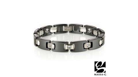 MASSA-G Deco系列【Black 】黑白絕配陶瓷手環