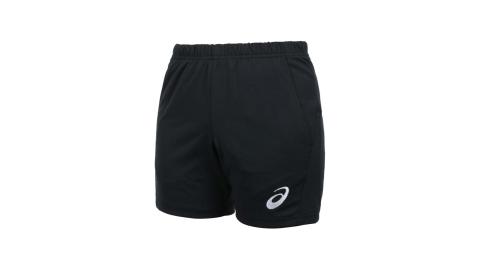 ASICS 女排球短褲-針織 三分褲 運動 慢跑 路跑 吸濕排汗 亞瑟士 黑白@2052A270-001@