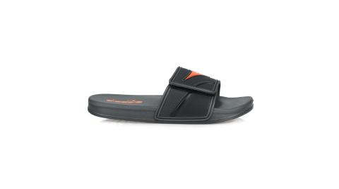 DIADORA 男雙密度運動拖鞋-海邊 海灘 戲水 游泳 沙灘 灰橘黑@DA71139@