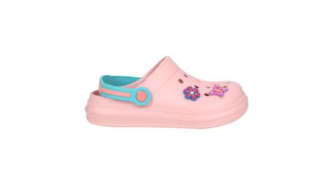 LOTTO 女中童FANO清涼拖鞋-涼鞋 洞洞鞋 水陸鞋 童鞋 懶人鞋 台灣製 粉紅綠紫藍@LT1AKS3083@