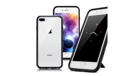 Thunder X iPhone 8 Plus / 7 Plus 防摔邊框手機殼-黑