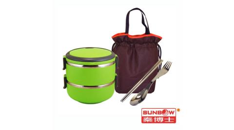 秦博士 二層隔熱餐盒餐具組 SMC2142+SP08F+BA2711
