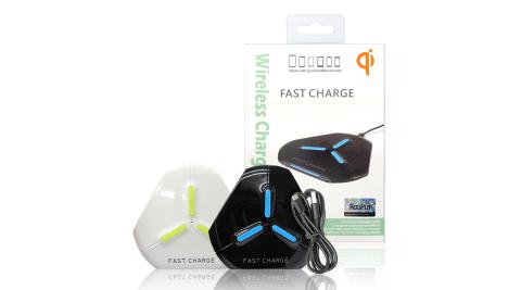 Koopin QC3.0/2.0急速閃充10W無線充電板 Qi無線充電盤 附充電線
