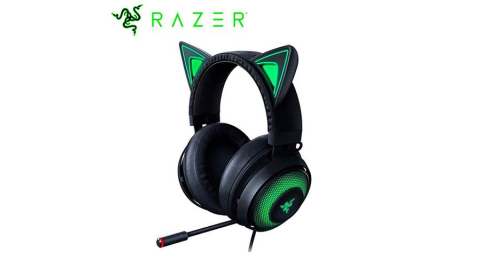Razer 雷蛇 北海巨妖 電競耳機麥克風 Kitty  黑