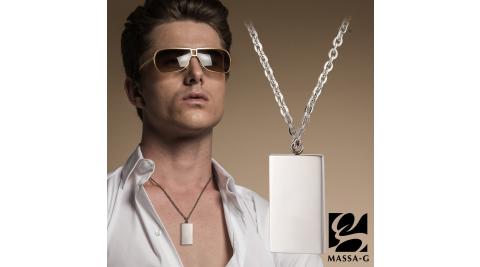 MASSA-G《Mode》風尚金屬鍺錠白鋼項鍊