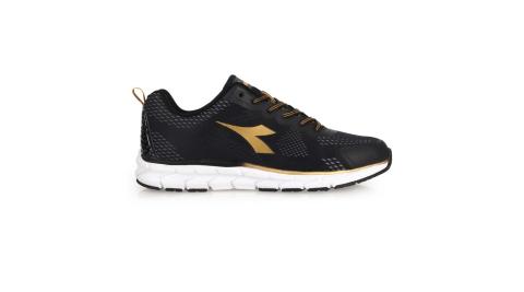 DIADORA 男專業輕量慢跑鞋-寬楦 運動 路跑 黑金@DA71108@