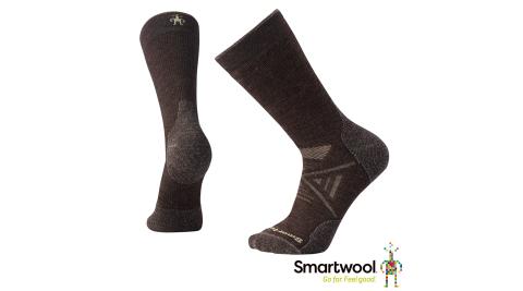 【SmartWool 智慧羊毛】SW001071207 男 PhD戶外中級減震中長襪 排汗襪 美麗諾羊毛襪 栗子棕