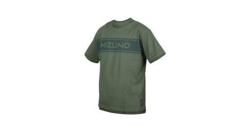 MIZUNO 男1906系列短袖T恤-台灣製 休閒 慢跑 美津濃 軍綠@D2TA000338@