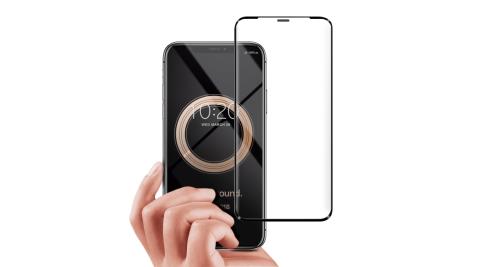 City Boss for iPhone11 Pro Max 6.5吋無孔防塵防水滿版鋼化玻璃貼
